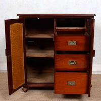 Filing Cabinet 19th Century Mahogany Birdseye Maple (3 of 10)