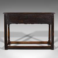 Antique Dresser Base, English, Oak, Side, Hall, Table, Late Georgian c.1800 (6 of 10)