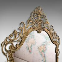 Large Antique Wall Mirror, Italian, Gilt Metal, Hall, Bedroom, Rococo, Victorian (6 of 12)