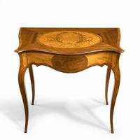 Victorian Inlaid Satinwood & Kingwood Table in the Style of Hepplewhite (8 of 10)