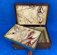 Victorian Rosewood Jewellery Box with Inlay (9 of 10)