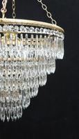 Italian Art Deco Six Tier Crystal Glass Chandelier (4 of 8)