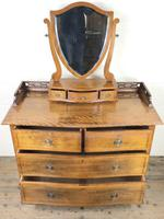 Edwardian Mahogany Serpentine Dressing Table Chest (3 of 9)