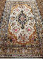 Antique Kashmir Silk Carpet (8 of 8)