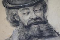 19th Century Charcoal Drawing Bearded Gent (4 of 10)