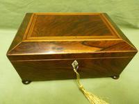 Regency Rosewood Jewellery / Sewing Box - Original Tray + Accessories c.1820 (11 of 15)