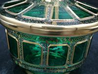 Antique Bohemian Cabochons Glass Covered Bowl, Box, Biscuits Jar (9 of 10)