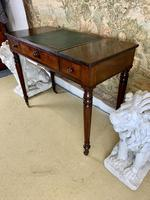 Victorian Mahogany Writing Desk with Green Leather (9 of 9)