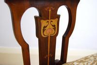 Edwardian Art Nouveau Inlaid Armchair (5 of 8)