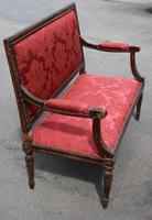 1910s French Beech 2 Seater Sofa in Red Upholstery (2 of 4)