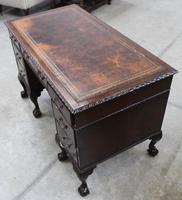 1940s Mahogany Desk with Brown Leather Inset.1 Piece (4 of 5)