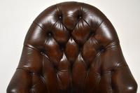 Georgian Style Leather Swivel Desk Chair (7 of 8)