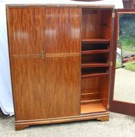 1940s Large 3 Door Mahogany Wardrobe with Good Interior (3 of 4)
