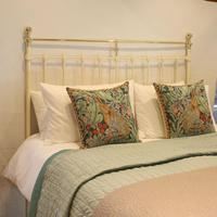 Brass & Iron Antique Platform Bed in Cream (2 of 5)