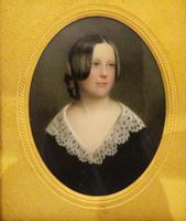 Miniature Portrait Victorian Beauty In original Travel Case (3 of 7)