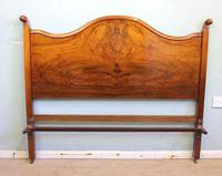 Antique Figured Walnut Double Bed. (3 of 17)