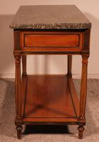 Louis XVI Console in Cherrywood, 18th Century Stamped LM Pluvinet (9 of 15)