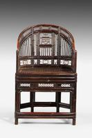 Regency Period Pavilion Cane Armchair (3 of 6)