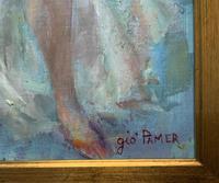 Original Vintage Antique Impressionist Erotica Nude Oil Portrait Painting (9 of 11)
