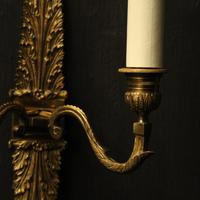French Pair of Bronze Antique Wall Sconces (7 of 10)