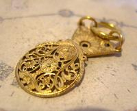 Georgian Pocket Watch Chain Fob 1830s Antique Large Brass Verge Balance Cock Fob (2 of 9)