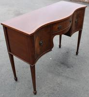 1960's Mahogany Serpentine Sideboard with Cutlery Drawer (4 of 5)