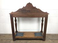 Antique Victorian Carved Oak Hall Stand (14 of 14)