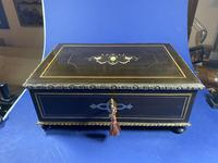 19th Century French  Ebonised Fruitwood Jewellery Box (17 of 18)