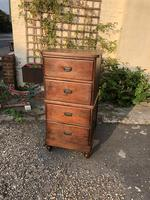 Antique Tall Narrow Four Drawer Chest of Drawers Tallboy