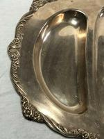 Fine Large English Georgian Revival Silver Plate Acanthus Repousse Meat Salver (4 of 12)
