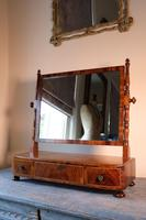 19th Century Mahogany Dressing Table Mirror with Three Drawers (2 of 21)
