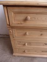 Massive Victorian Antique Pine 4 Drawer Chest of Drawers to wax / paint (6 of 12)