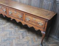 Rare Georgian four drawer dresser base. (4 of 13)