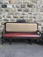 Matching Pair Antique Oak Benches (2 of 14)