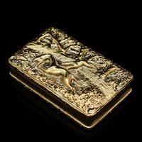 Georgian Solid Silver Gilt Snuff Box With Spectacular Fox Hunting Scene - Edward Smith 1832 (17 of 22)