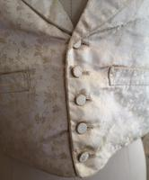 Antique Victorian Ivory Colour Silk Waistcoat (11 of 12)