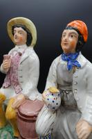 Late 19th Century Staffordshire Figure of Tam O Shanter & Souter Johnny (3 of 4)