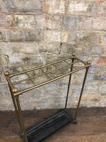 Brass & Steel Umbrella Stand (4 of 5)