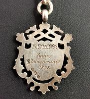 Victorian Silver Double Albert Chain, Watch Chain Fob (9 of 11)