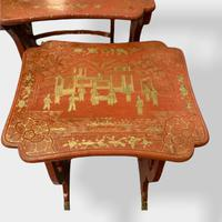 Crutsy Nest of 4 Chinese Red Lacquered Tables (7 of 13)