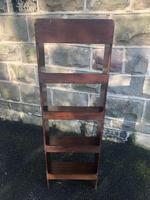 Edwardian Inlaid Mahogany Slim Open Bookcase (5 of 7)