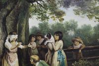 Pair of Early 19th Century Country Genre Scenes Oil on Canvas (6 of 21)