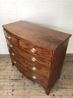 19th Century Mahogany Bow Front Chest of Drawers (6 of 18)