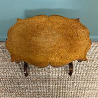 Spectacular Victorian Birds Eye Maple Occasional Table (8 of 8)