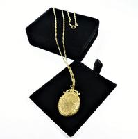 Antique Hallmarked Gold Locket With Necklace (6 of 8)