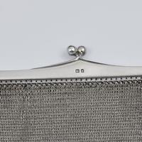 Large Art Deco English Sterling Silver Chain Link Evening Bag (4 of 7)