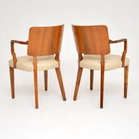 Pair of Vintage Art Deco Walnut Armchairs (6 of 9)