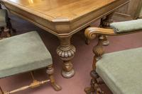English Blonde Oak Dining Table  and 10 Matching Chairs (4 of 6)