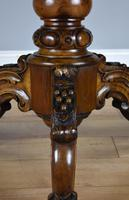 Victorian Walnut Marquetry Inlaid Circular Table (15 of 15)