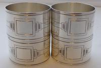 Walker & Hall Set 4 Art Deco Hallmarked Solid Silver Napkin Rings Serviette Ring (7 of 10)